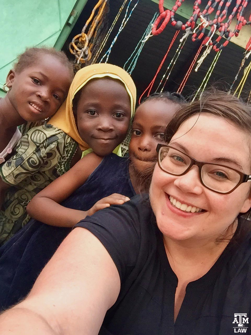 2L Lauren Ehrhardt with Akosombo Children