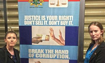 ghana anti corruption sign