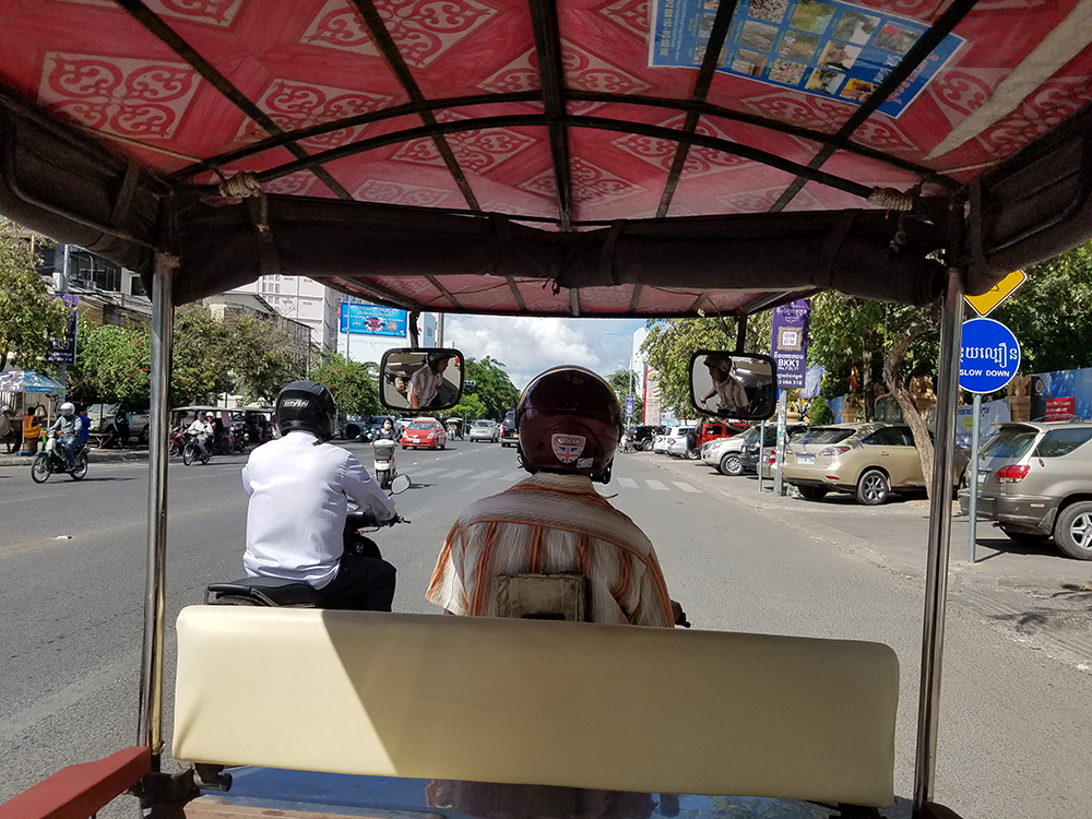 Mari's commute in Cambodia