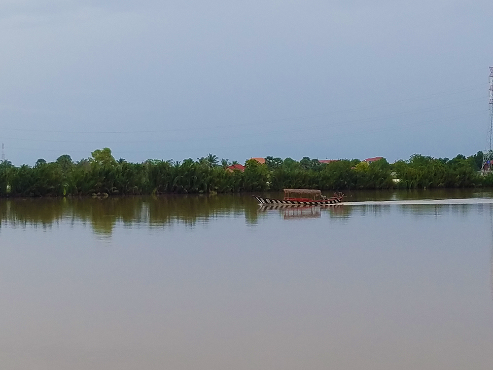 Boat on the river in Cambodia
