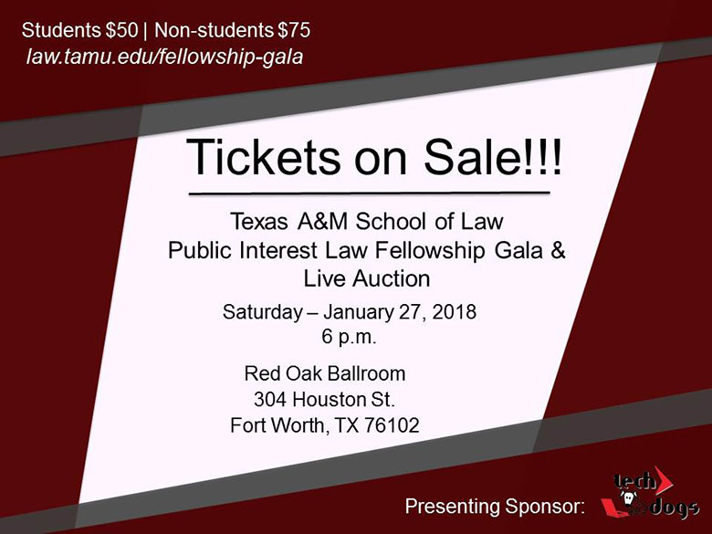 2018 Fellowship Gala tickets on sale