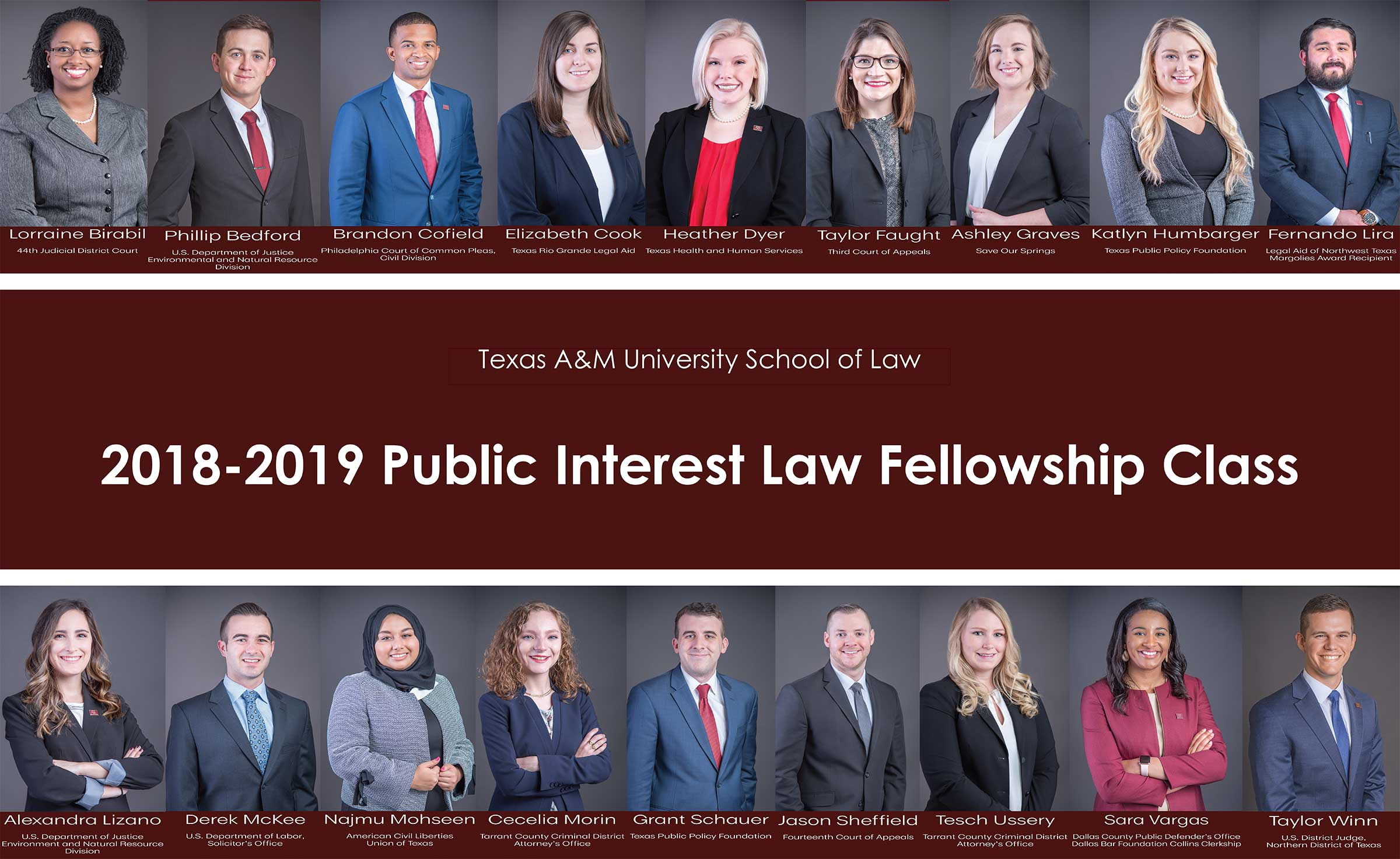Law Fellowship Class 2018-19
