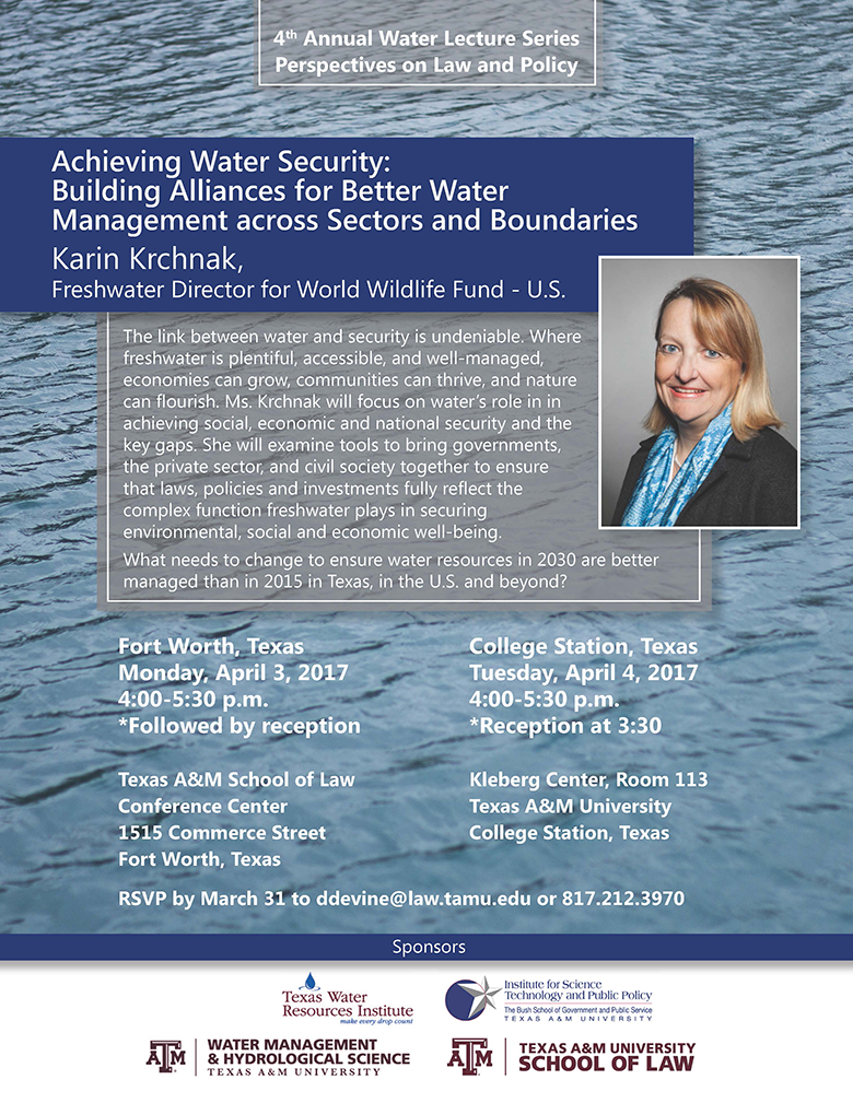 2017 Water Lecture Series flyer