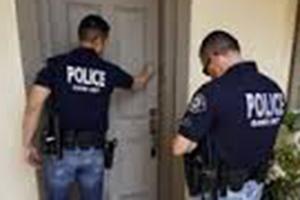 police at your door