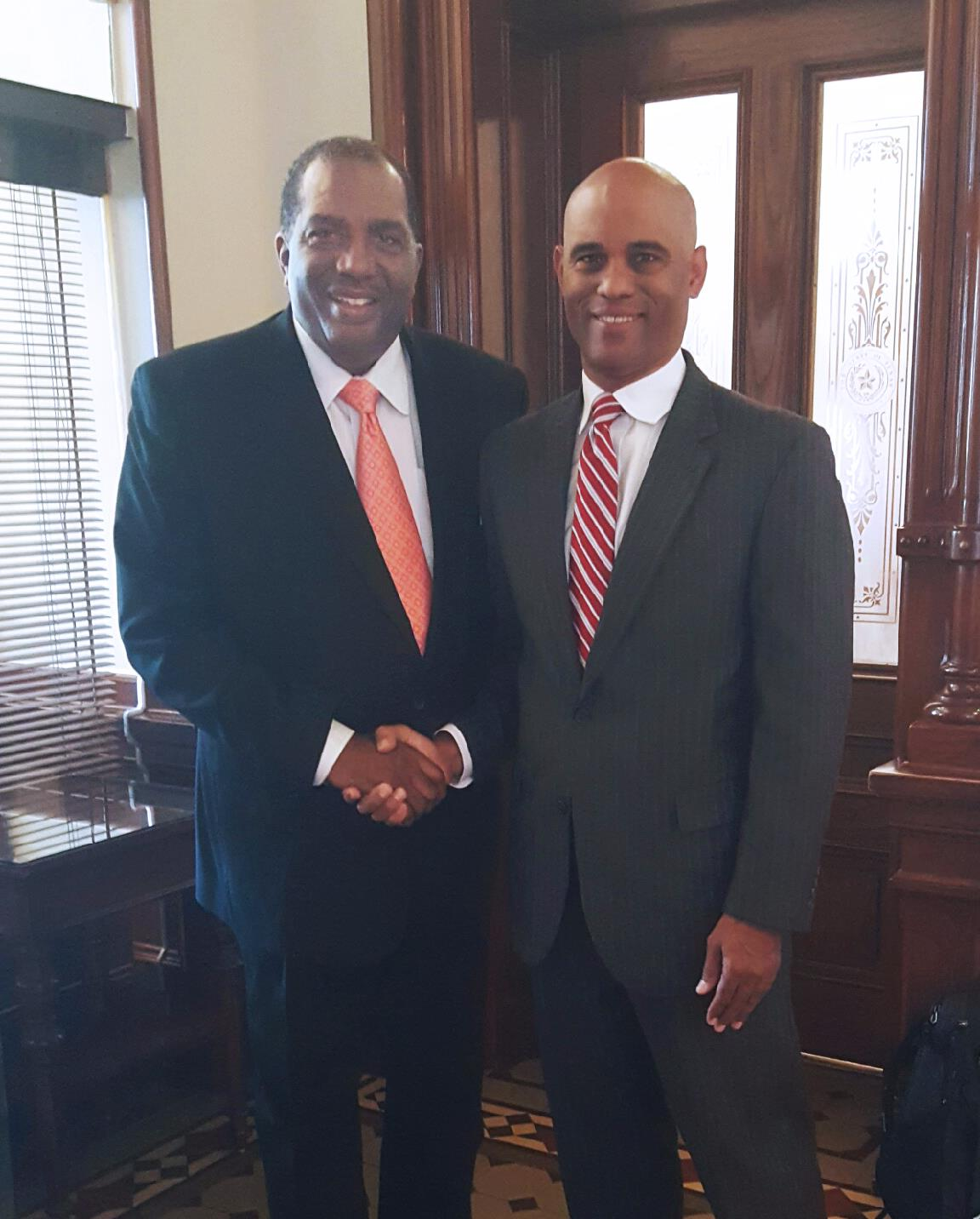 Sen. Royce West and Prof. Thomas W. Mitchell