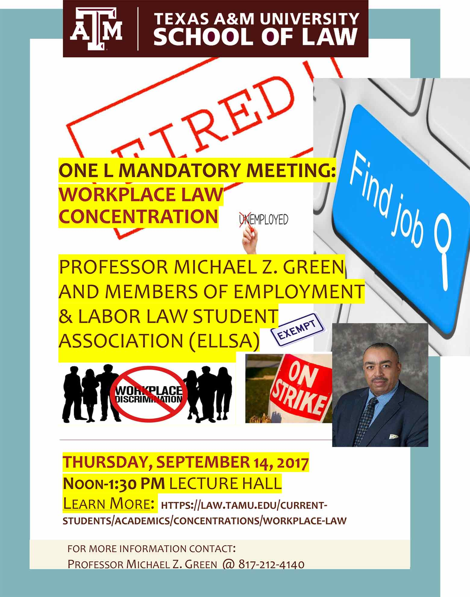 1L mandatory meeting Workplace law