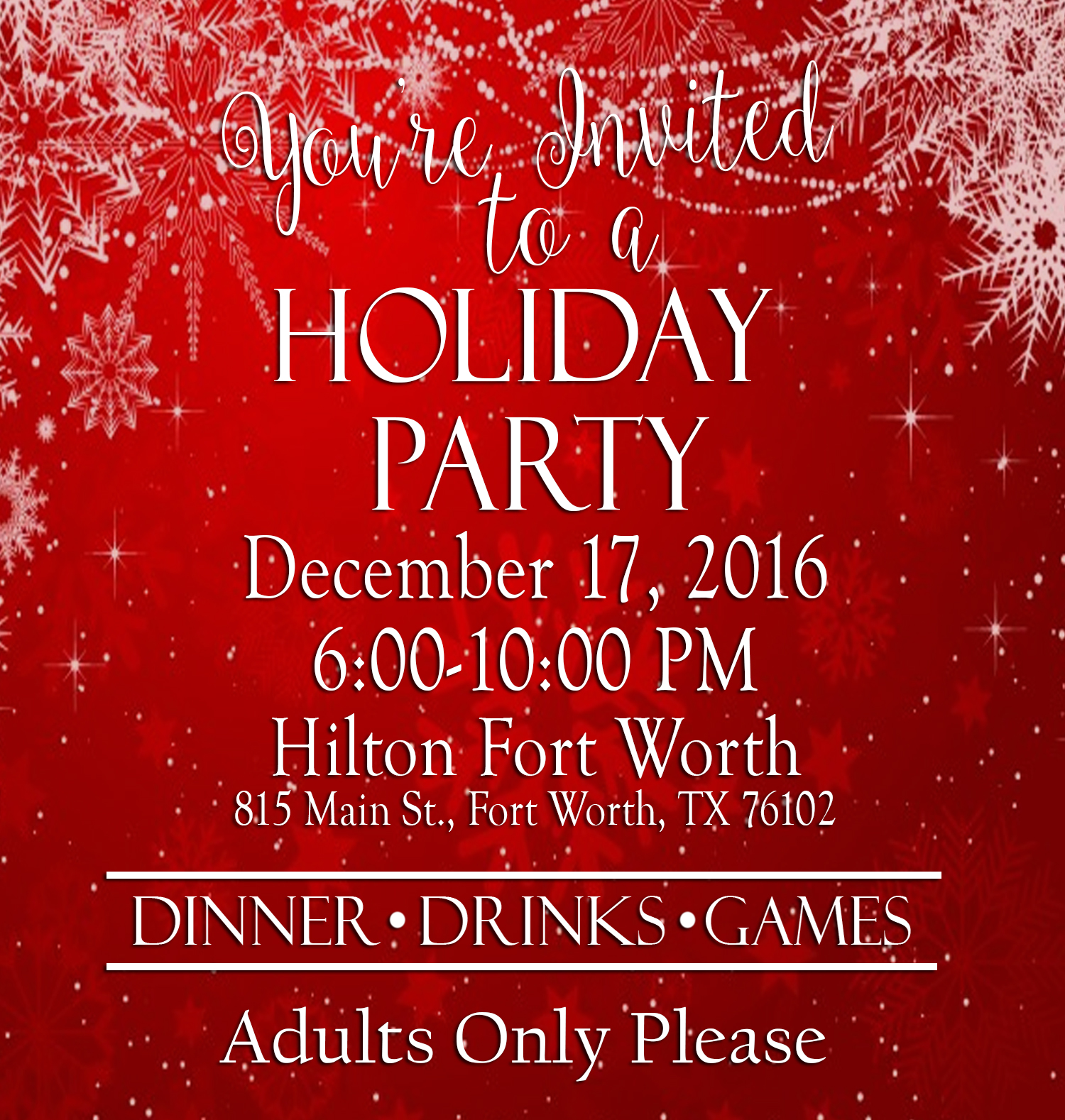 2016 holiday party invite