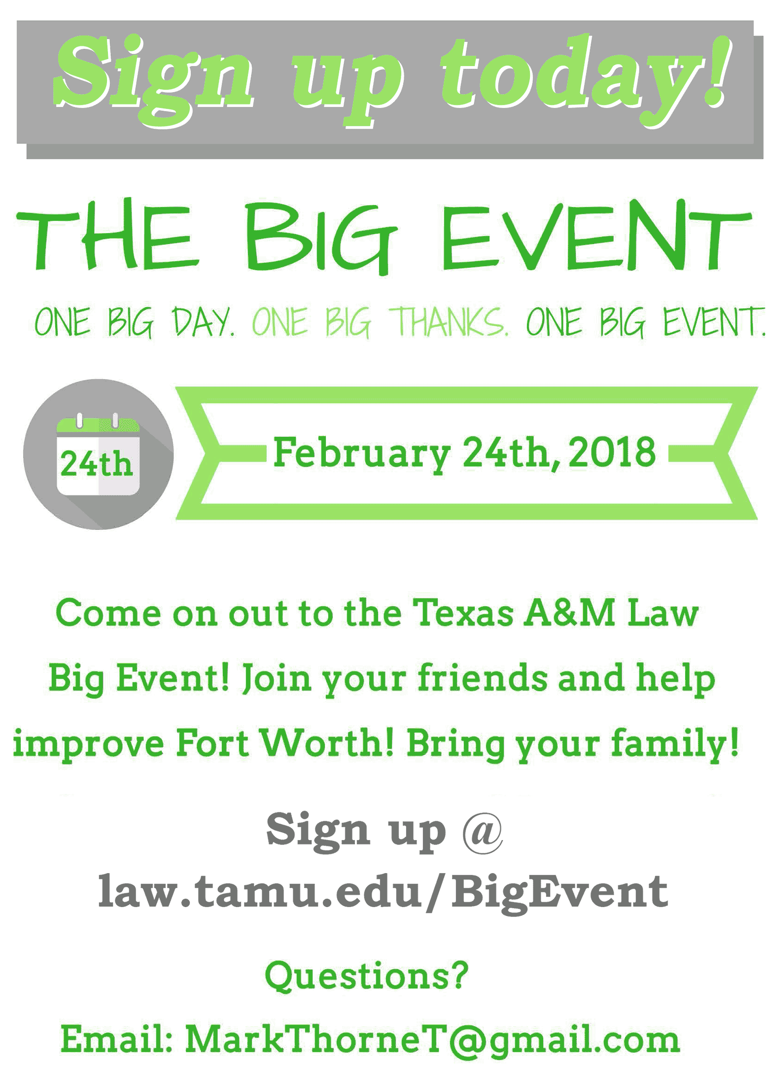2018 Big Event signup