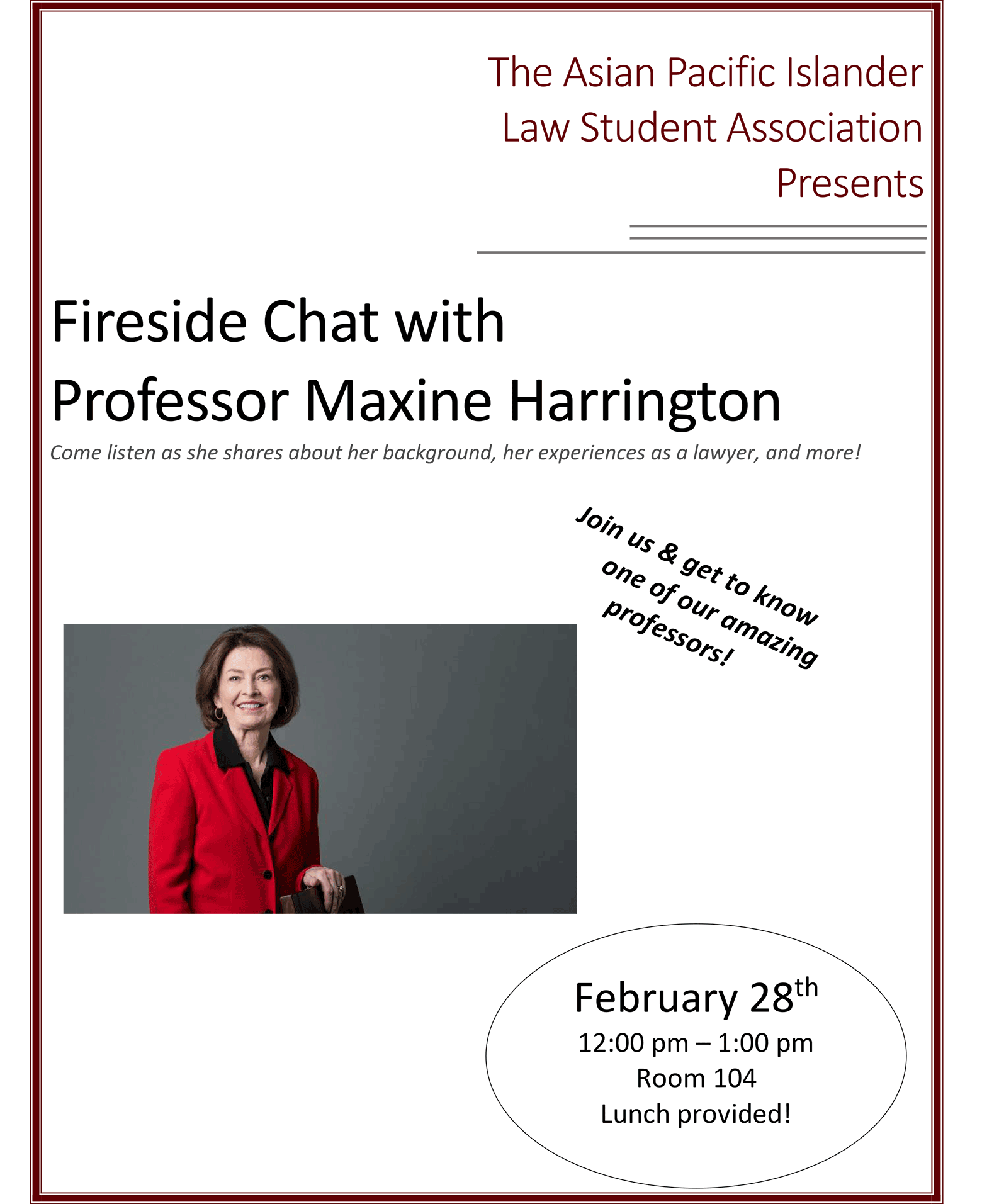 APILSA Fireside Chat with Prof. Harrington