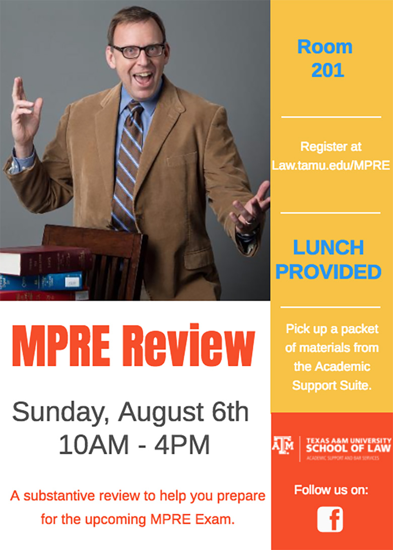 August 2017 MPRE Review Flyer