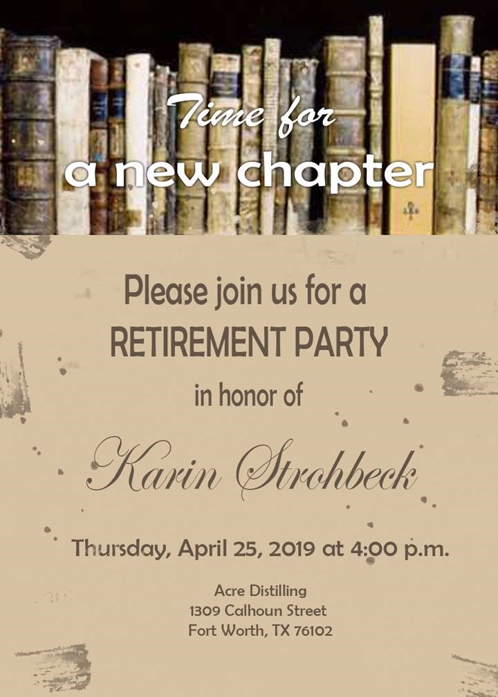 Karin Strohbeck Retirement Party