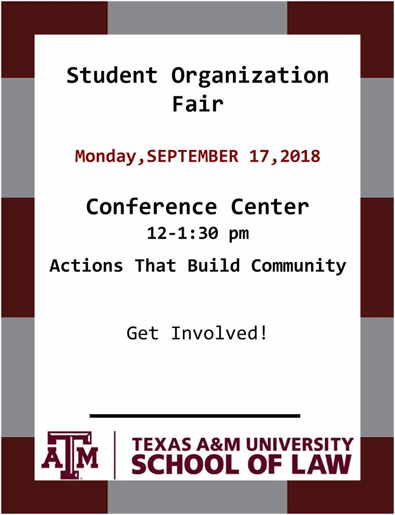 Student Org Fair Flyer 2018