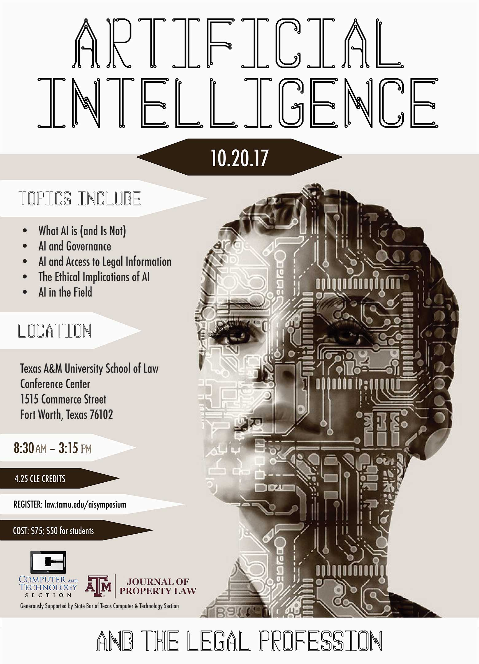 Artificial Intelligence symposium flyer