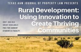 JPL Fall 2018 symposium rural development