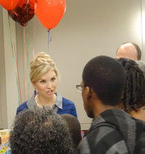 Texas A&M School of Law student Chelsea Johnson assists during National Adoption Day