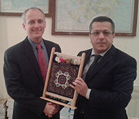 Professor Eckstein with Dr. Amir Aliyev, Dean of the Faculty of Law at Baku State University