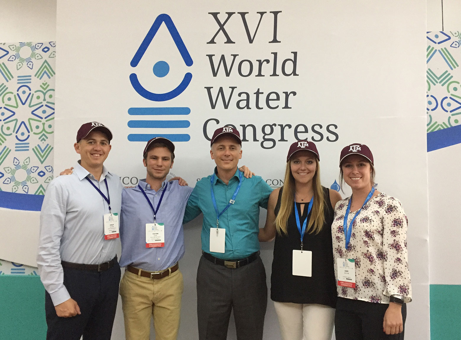 Aggie Law students at the World Water Congress