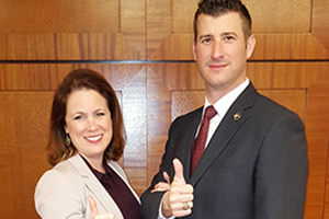 Lynne Nash and Justin Davis, ABA National Mediation Champions