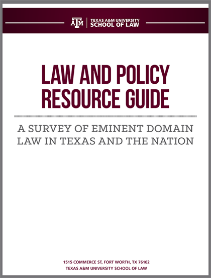 Survey of Eminent Domain Law cover