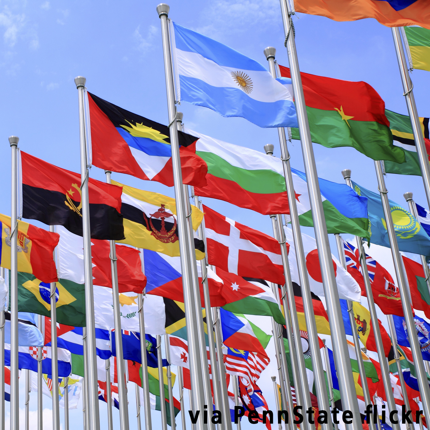International flags via PennState flickr