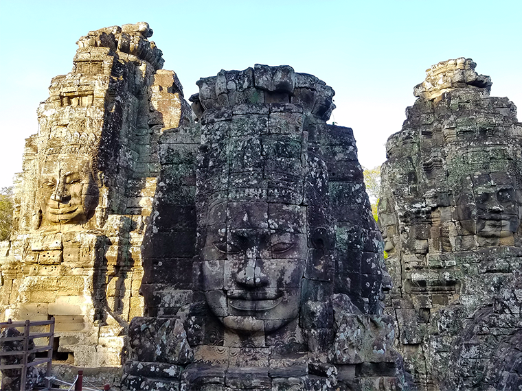 Cambodia Bayon Temple faces