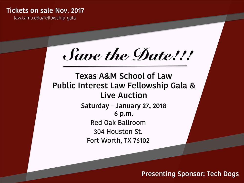 2018 Fellowship Gala Save-the-Date
