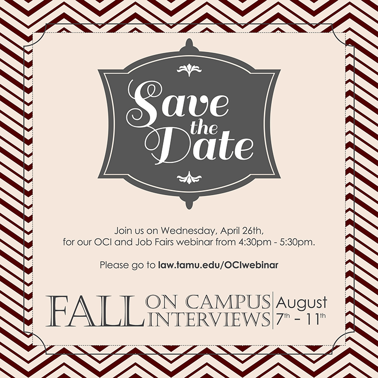 Save the Date Fall OCIs