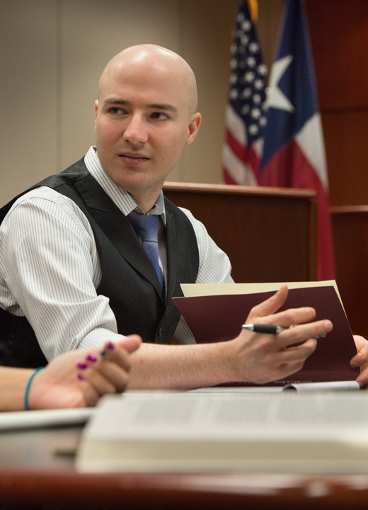 Students studying at Texas A&M School of Law