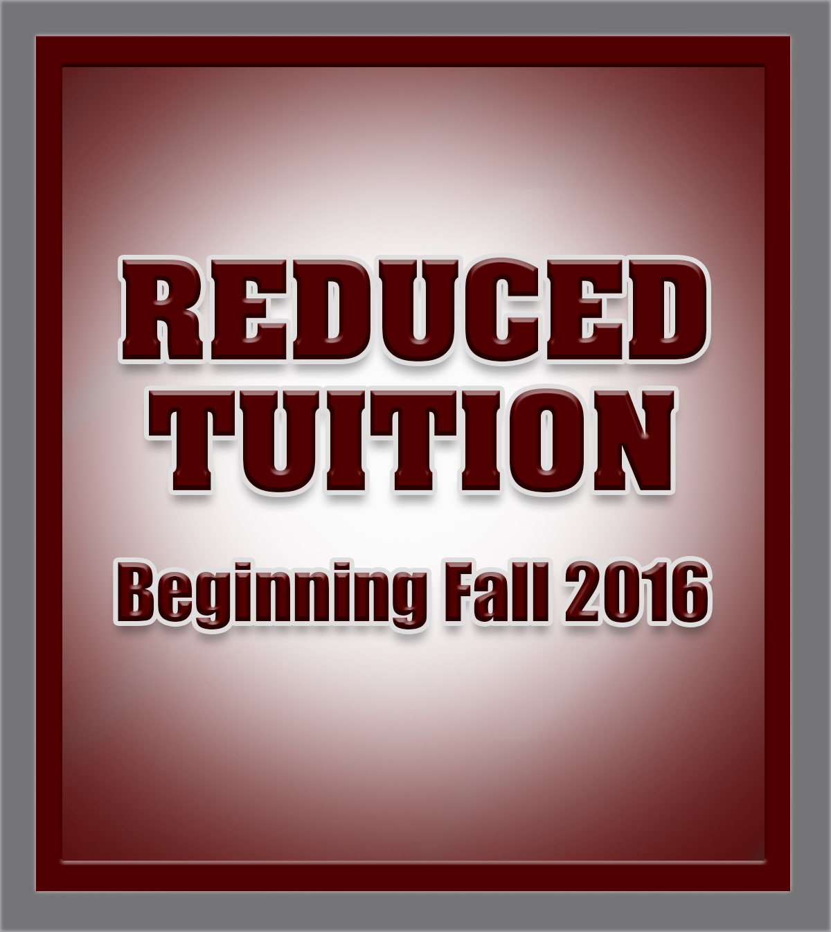 Reduced Tuition graphic
