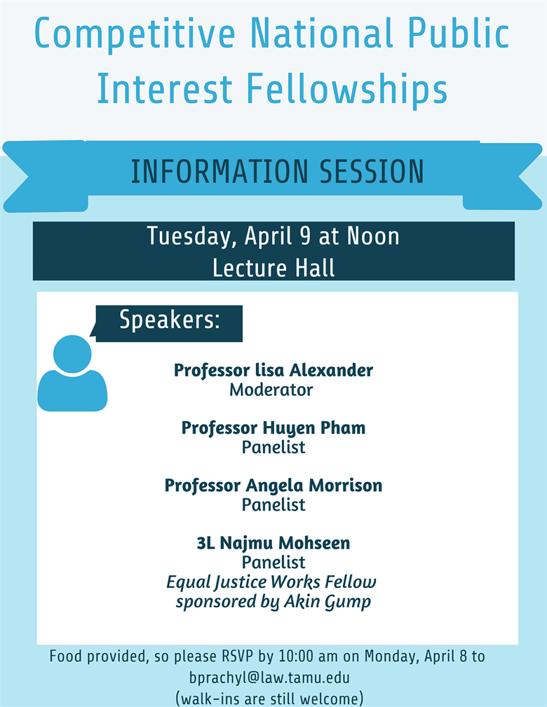 Competitive National Public Interest Fellowships Info Session