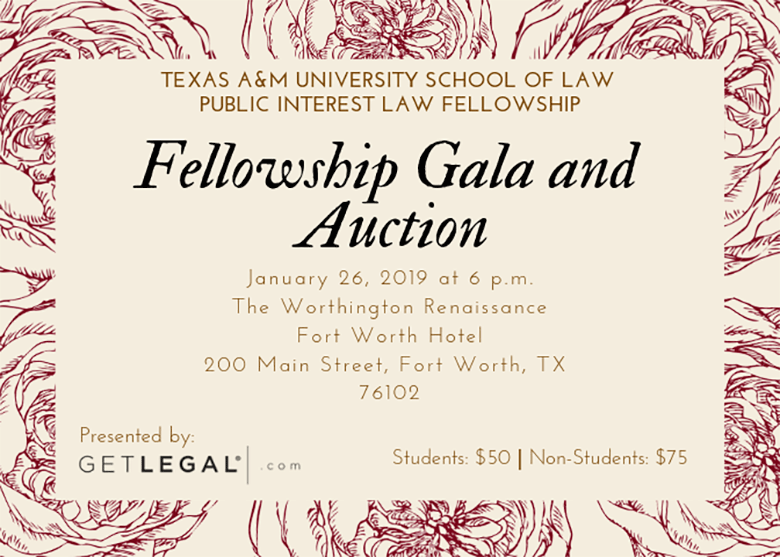 2019 Fellowship Gala invite