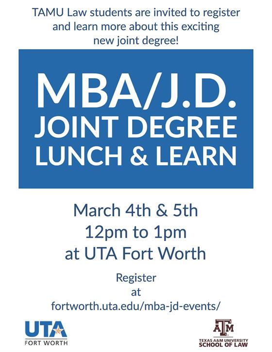 MBA JD Lunch and Learn Flyer
