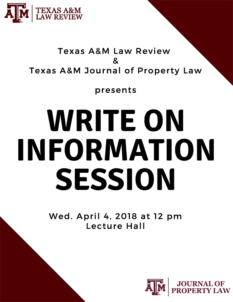 Law Review & Property Journal Write-On Information Session
