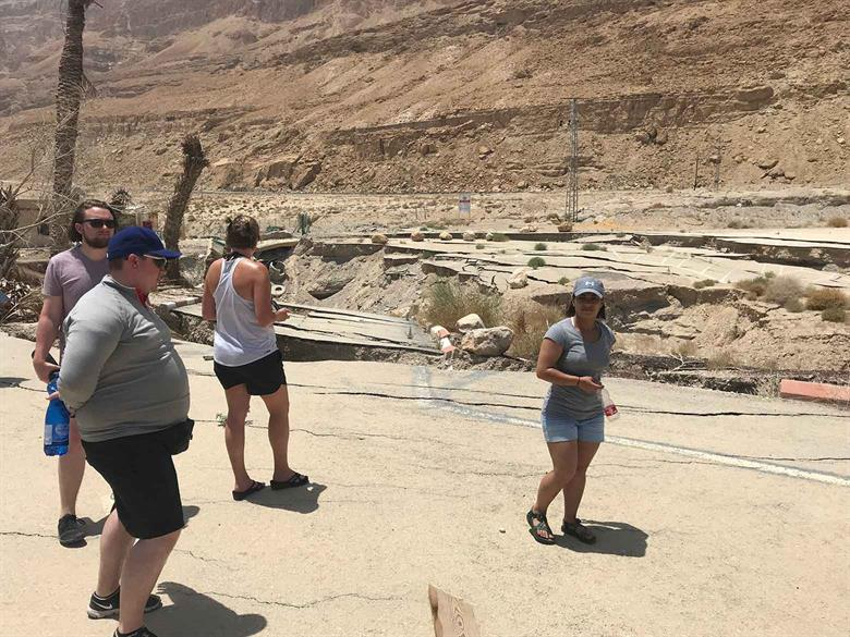 Israel Dead Sea sinkholes May17