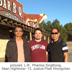 Phanlop Singthong, Sean Hightower '13, Justice Pitak Khongchan