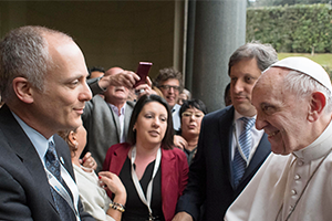 Prof Gabriel Eckstein and Pope Francis