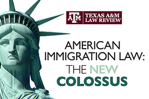 Law Review immigration symposium logo