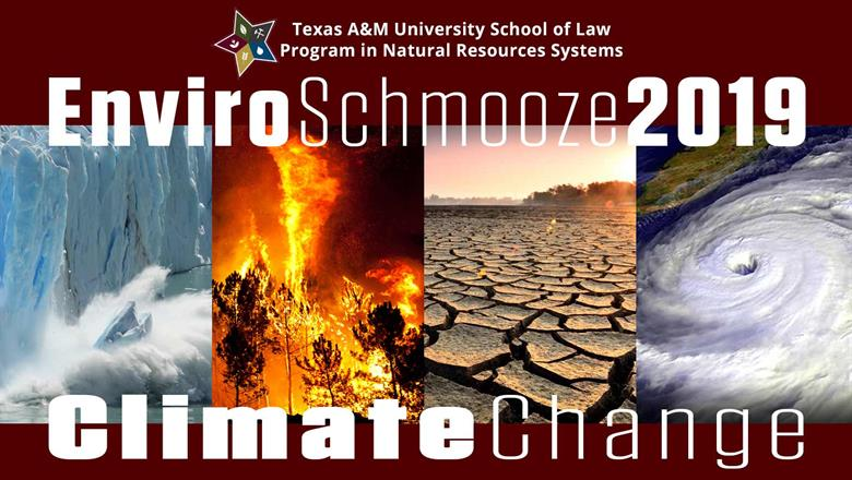 Enviro Schmooze 2019 climate change banner graphic