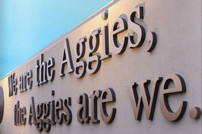we are the aggies sign