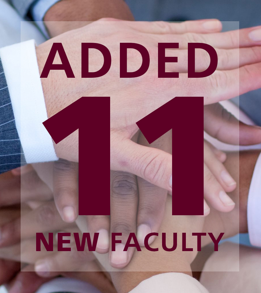 Hired 11 New Faculty