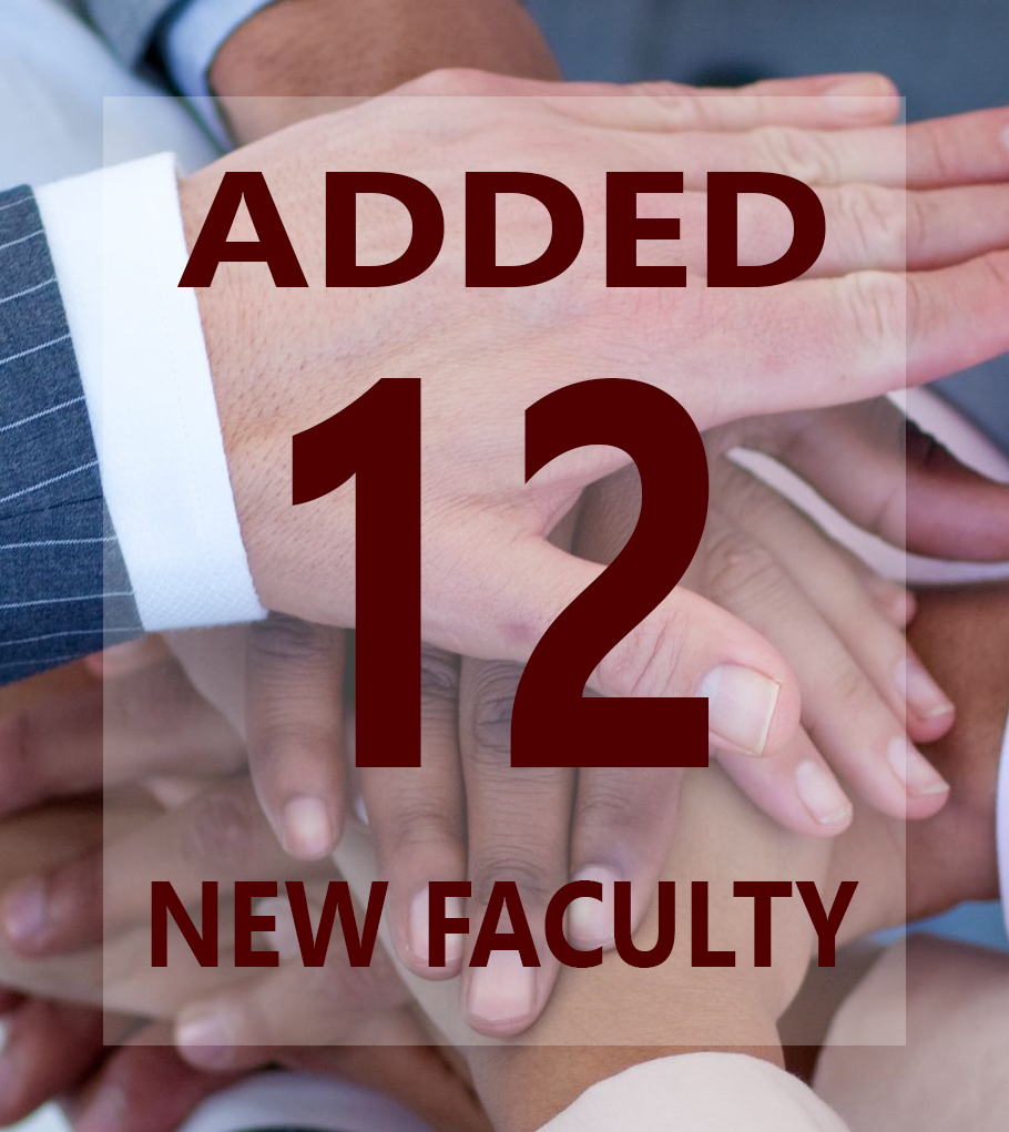 New Faculty maroon 12 graphic