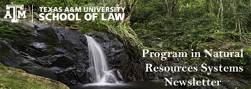 Program in Natural Resources Systems newsletter header